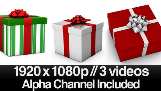 Thumbnail for Christmas Present with Bow - Series of 3 + Alpha