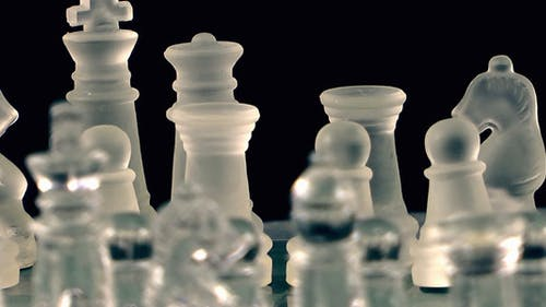 Chess Game From Glass 1