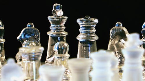 Chess Game From Glass 5
