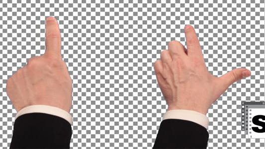 Thumbnail for Touch Screen Finger Gestures - Businessman