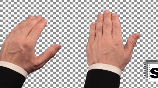 Thumbnail for Touch Screen Hand Gestures - Businessman