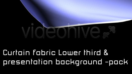 Thumbnail for CURTAIN FABRIC lower third & BACKGROUND - PACK