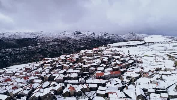 Thumbnail for Snow Covered Mountain and Village