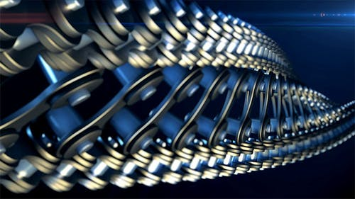 Bicycle Chain in Form of DNA