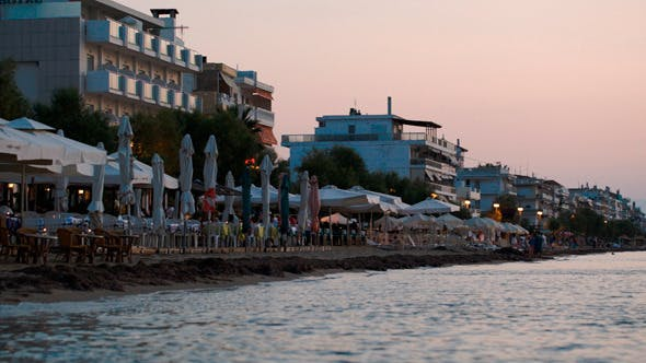 Thumbnail for Coastal Area Of Summer Resort In The Evening