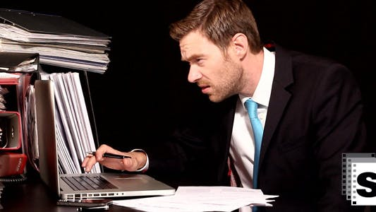 Too Much Work For Businessman