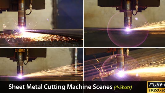 Thumbnail for Sheet Metal Cutting Machine Scenes