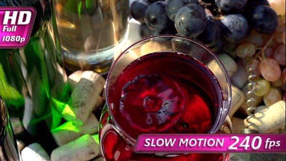 Thumbnail for Drops Falling into a Glass of Wine