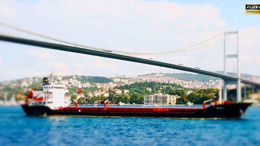 Thumbnail for Container Ship is Passing The Bosphorus