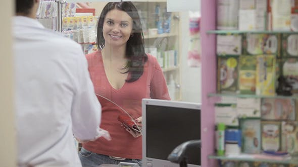 Thumbnail for Client Buying Drugs In A Pharmacy