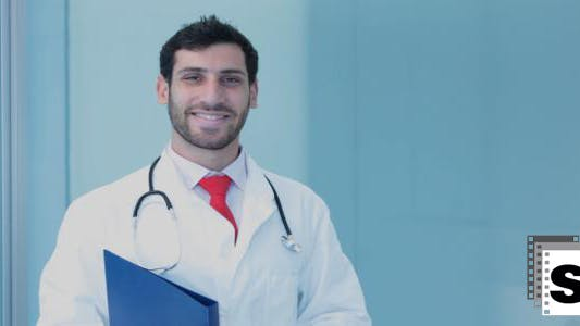 Thumbnail for Smiling Doctor (male)