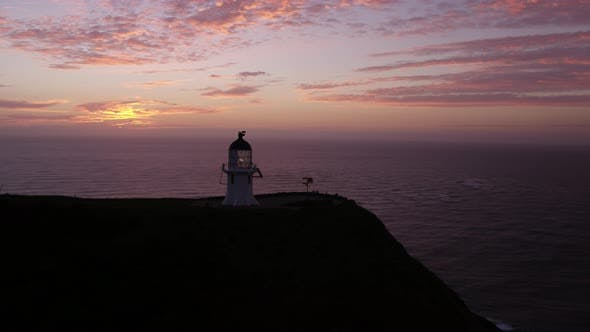 Thumbnail for Cape Reinga Lighthouse Sunset Aerial