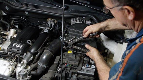 Thumbnail for Car Repair Mechanic Assembling Auto Air Filter