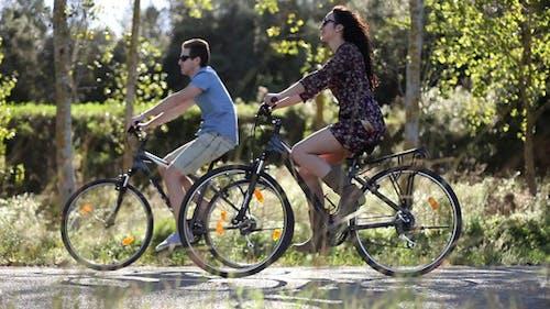 Radfahren-Paar