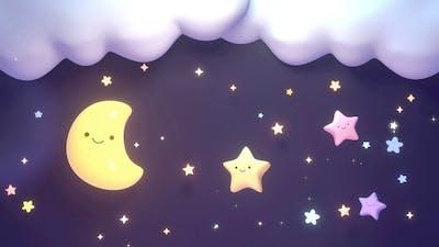 Cute Moon And Stars