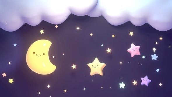 Thumbnail for Cute Moon And Stars