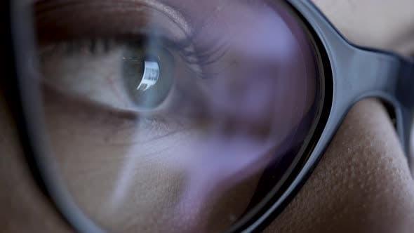 Thumbnail for Social Feed Reflection On Eyeball And Glasses