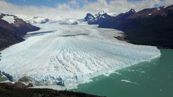 Thumbnail for Aerial view of Perito Moreno glacier in Lago Argentino, Argentina.