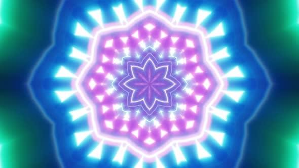 Leuchtende Neonblume Lichtschlaufe 4K