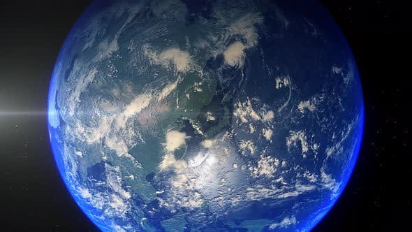 Thumbnail for Realistic Earth Zoom Out Clouds Sea Of Japan