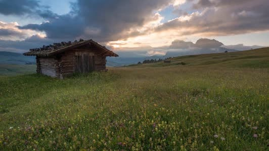 Thumbnail for Clouds Dancing Over the Dolomites Mountains at Sunrise