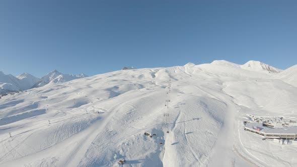 Thumbnail for Gondola ski lift in Gudauri. Georgia 2018 winter