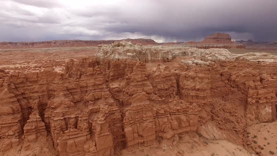 Thumbnail for Aerial  View of the Thousands of Mushroom-shaped Sandstone Formations Standing