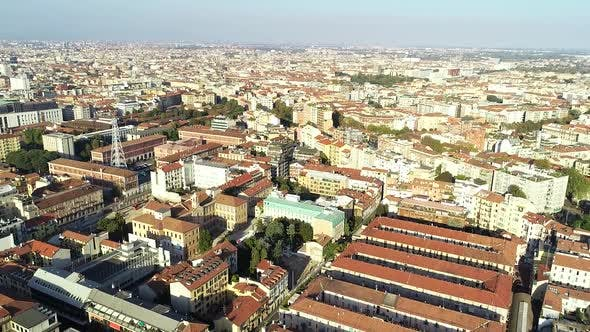Thumbnail for Flying Above Milan City Of Italy