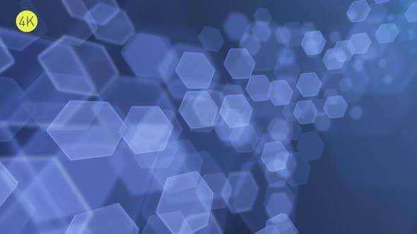Soft Blue Hexagons Background 3