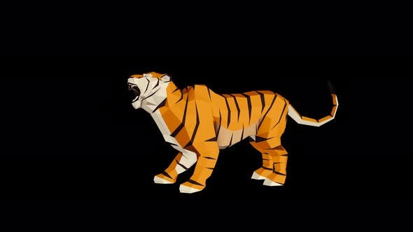 Thumbnail for 4K Low Poly Tiger Idle