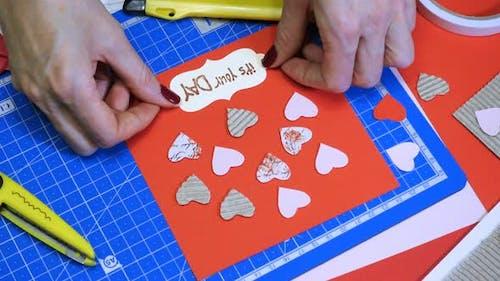 Scrap Valentine Greeting Card