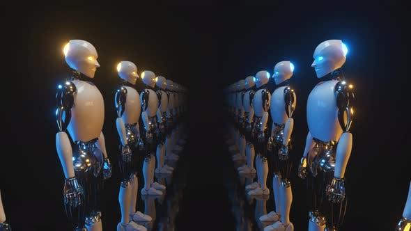 Thumbnail for An Endless Corridor of Robots Facing Each Other