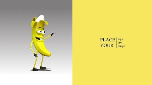 Banana advertises a company or logo