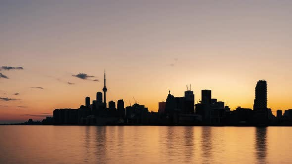 Thumbnail for Toronto, Canada, Timelapse  - The City's Skyline from Day to Night