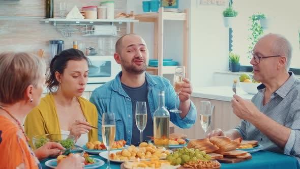Thumbnail for Family Enjoying the Dinner