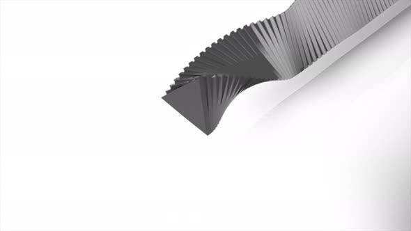 Abstract grey geometric shapes on white background