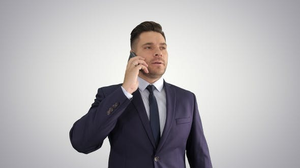 Caucasian business person answering several calls being