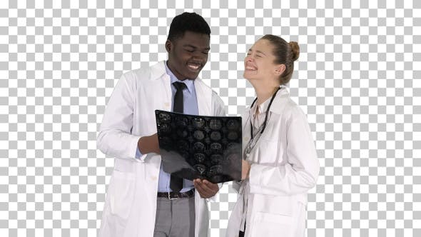 Thumbnail for Laughing Doctors Studying X-Ray, Alpha Channel