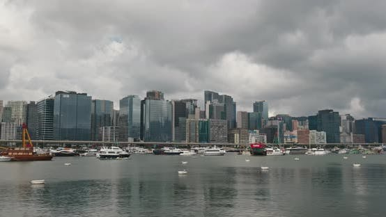Thumbnail for Hong Kong skyline, timelapse