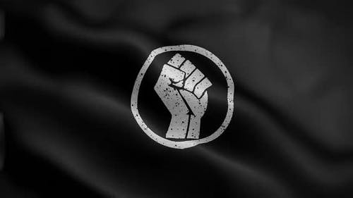 Power Hand Flag Front