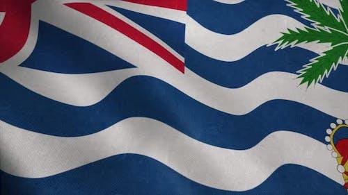 British Indian Ocean Territory Flag  Realistic Waving Fabric Flag