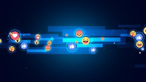 Facebook Reaction Emoji Background V6