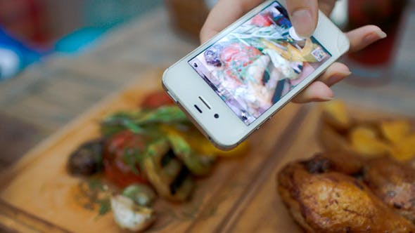 Thumbnail for Taking Picture Of Dish Served In Cafe