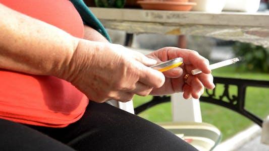 Thumbnail for Older Woman Smoking