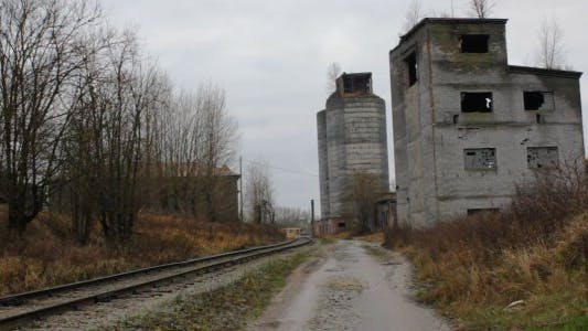 Thumbnail for Desolated Industrial Area and Railroad