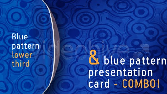Thumbnail for Blue pattern LOWER THIRD & PRESENTATION CARD-combo