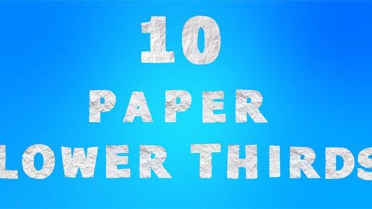 Thumbnail for 10 Paper Lower Thirds