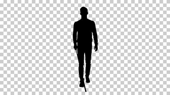 Thumbnail for Silhouette man walking, Alpha Channel