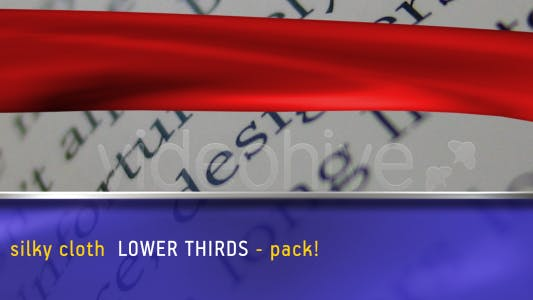 Thumbnail for SILKY CLOTH lower thirds PACK