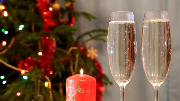 Thumbnail for Christmas Glasses With Champagne